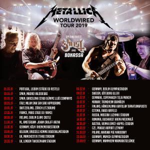 メタリカ、2019年の「Worldwired Tour」欧州ツアー2ndラウンド公演日程発表