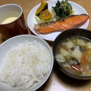 焼き鮭定食。
