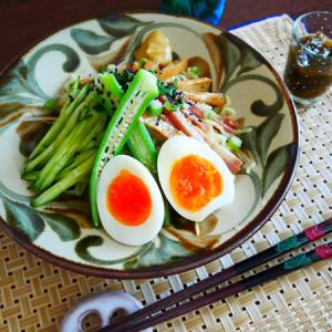 冷やし中華と、お惣菜まつり。