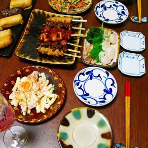 焼き鳥、ホタテに蒲鉾とか。