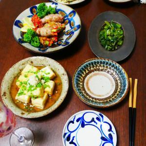 ケチャップライスと、島豆腐の揚げ出汁豆腐。