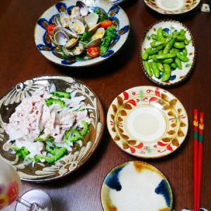 小松菜とトマト入り あさりの酒蒸し。