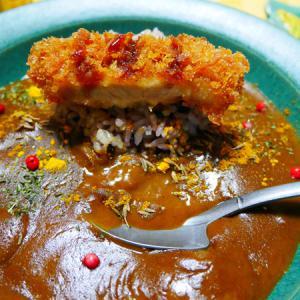 カツカレー、ビビンバ丼、海苔弁の夜。