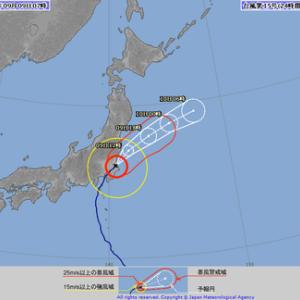 続々々々々: 令和元年9月8日(日)~9日(月)台風15号