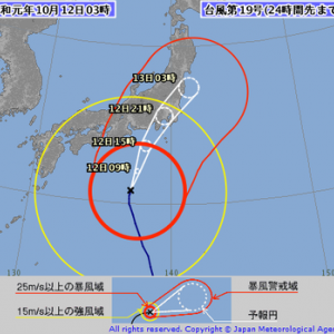 続:令和元年10月12日(土)~13日(日)台風19号