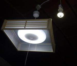 寝室照明と応接室照明の交換