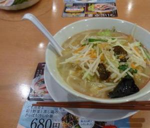 幸楽苑(掛川市中央一丁目)の「塩野菜たんめん」640円