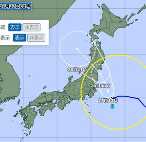 続:令和3年7月の台風8号