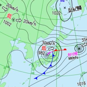 続々々々々:令和3年8月の台風10号と台風9号
