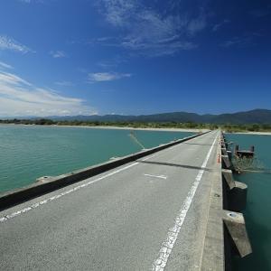 吉野川にかかる潜水橋