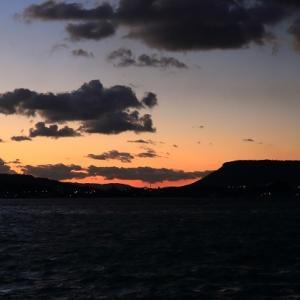 志度湾の夕景