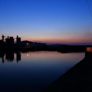 三本松港の夕景