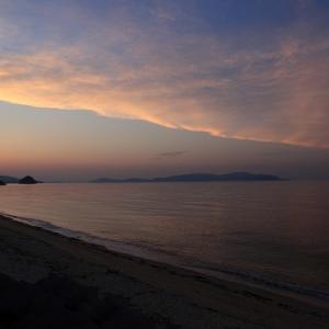 横内海岸の夕景