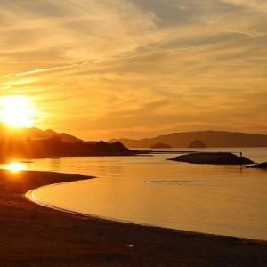 【美しい海岸線】東かがわ市松原海岸の夕景