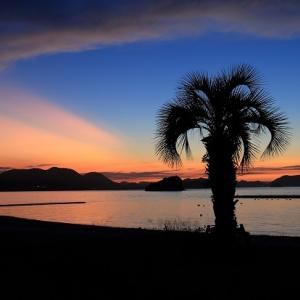 美しい山田海岸の夕景