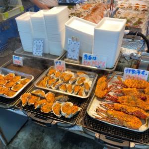 お魚市場にて