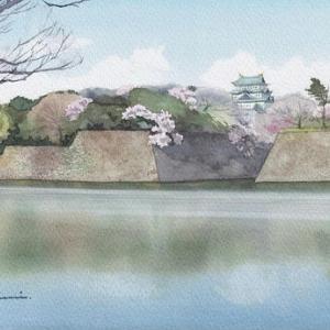 名古屋城遠景・春