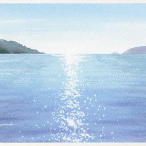 キラキラの水面を描きたい