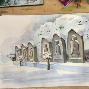雪景色と日曜画家コンクール