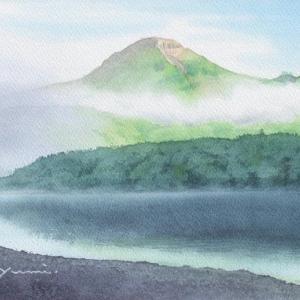 上高地☆朝もやの残る焼岳