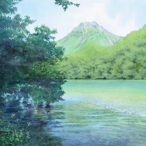 上高地☆焼岳と梓川