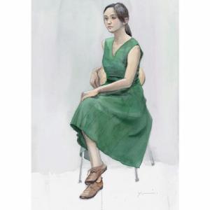 緑のワンピース