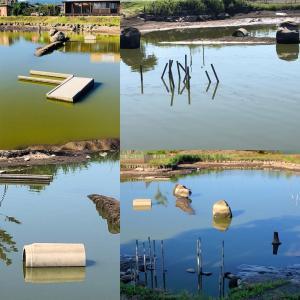 ※釣り池のストラクチャー