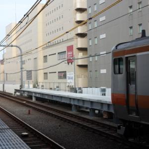 中央線12両化ホーム延伸工事 武蔵境2020.6.15