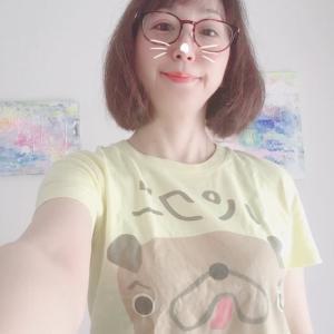 久しぶりにパグーTシャツを着る☆