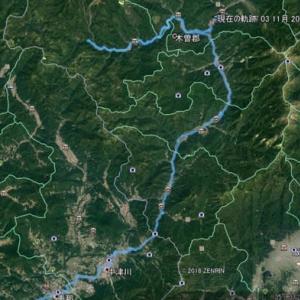 自然湖を目指すサイクリング(長野県木曽郡大滝村)