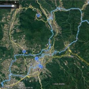 自転車で行く南木曽岳登山