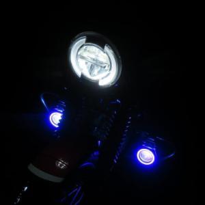 CT125 LEDフォグランプ実走テスト