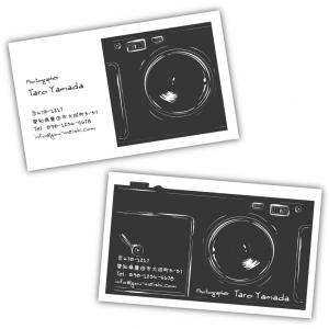 【新作★カメラマン・フォトグラファー・写真家 名刺】名刺がカメラになったオシャレな名刺デザイン♪