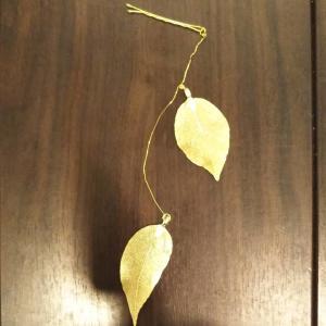金の葉のヘアピンを作りました!💁