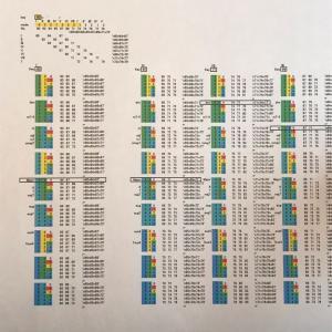 数値音楽(047)コードパターン一覧
