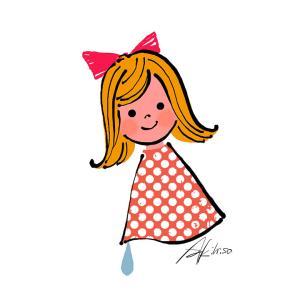 自分メンテナンスの日_懐かしいイラスト「てるてる娘」#2367