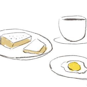 カフェ・モーニングのイラスト/2分イラストレーションNO.004 #2397