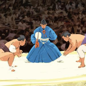 初めて相撲を描きました+「鬼滅の刃」のイラストを真似して描いて掲載してもいい?