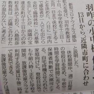 本屋親父のつぶやき 令和 2年 4月11日 今朝の北陸中日新聞・北國新聞さんの奥能登情報