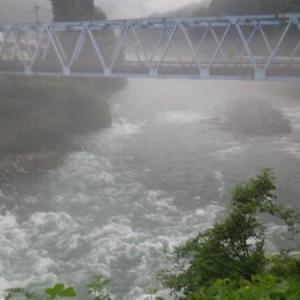 7月30日 高水の那比川で鮎釣り!