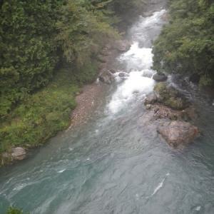 9月01日 高水の那比川で鮎釣り!