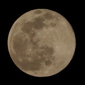今日のお月さん 2021.2.27満月