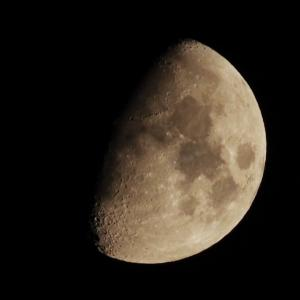 今日のお月さんと木星 2021.9.15