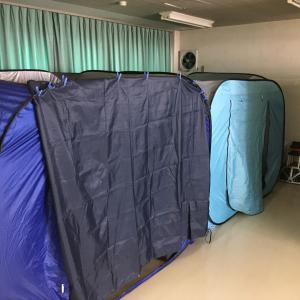 肝がん検診2021年上川地区開始 19名予約 テントとベッドの更新軽量化しました!画期的?