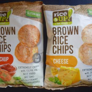 Rice UP! Brown rice chips 玄米チップス ケチャップ味/チーズ味