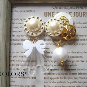 *新作紹介:button pierced earrings(18)*