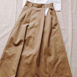 【GU】オンライン完売のチノフレアロングスカートも2色目をゲット‼︎