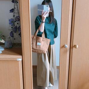 【GU】チノフレアロングスカートで秋コーデ