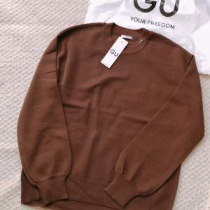 【GU】大型店限定高評価4.7のドロップショルダーセーター