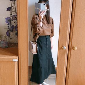 【UNIQLO】チノフロントボタンロングスカートで全身UNIQLOコーデ